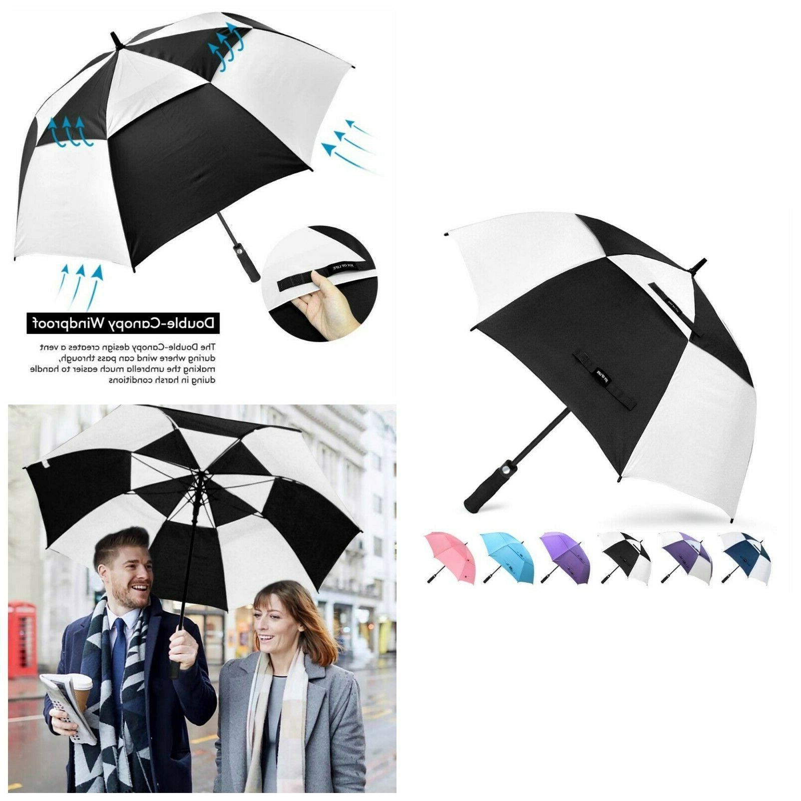 Automatic Golf Umbrella Windproof Oversize Double Canopy Rai