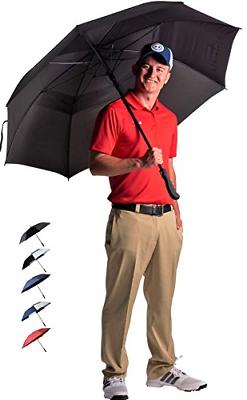 "62"" Automatic Open Golf Umbrella Sun Protection Large Oversi"