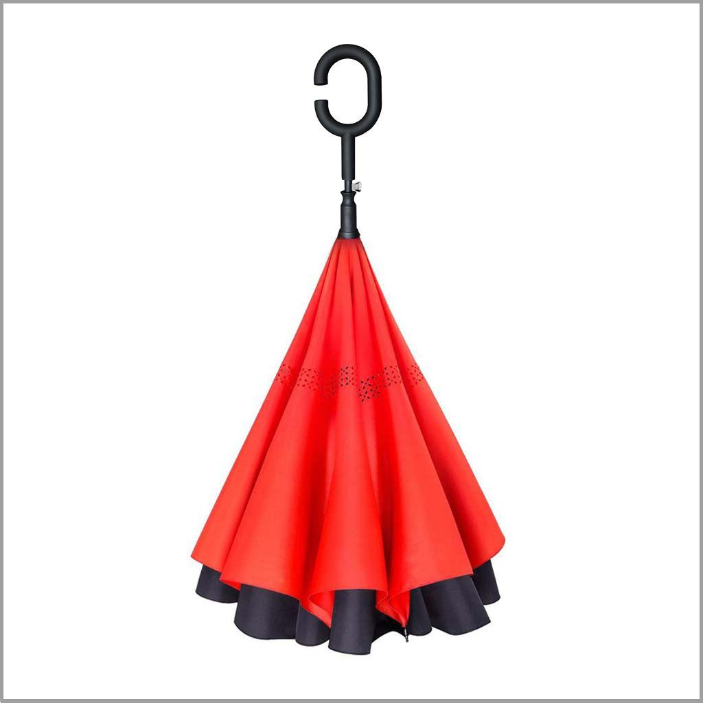 AUTOMATIC Inverted Inside-Out Double Layer Umbrella