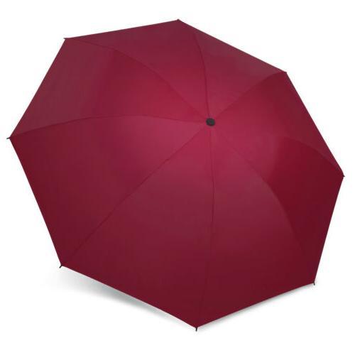 Portable Windproof Umbrella Inverted Reverse Foldable 3 Folding