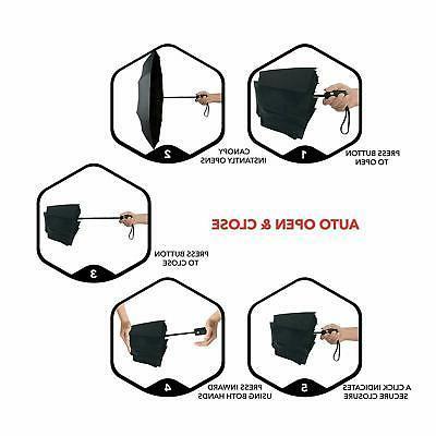 Automatic Umbrella Auto Open Folding Compact Umbrella US