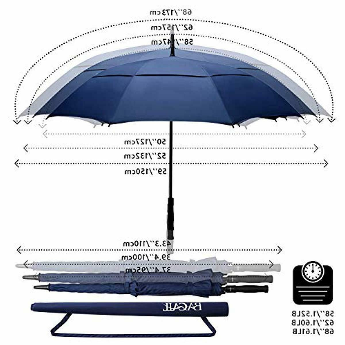 BAGAIL Golf Inch Oversize Double Canopy Vented