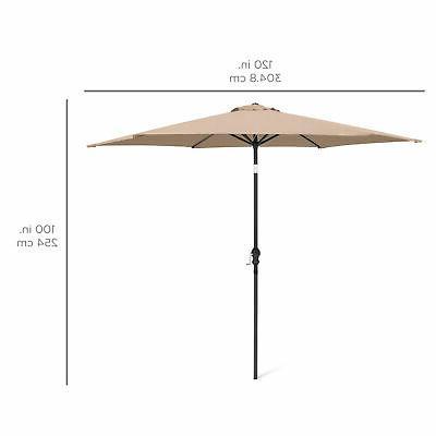 BCP 10ft Steel Market Patio Umbrella w/