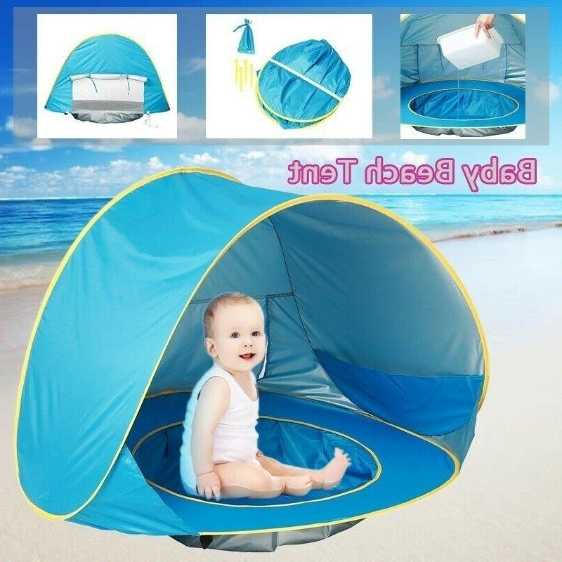 Beach Tent Baby Camping Hiking Up Protection Sun