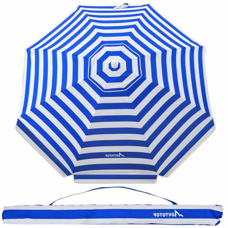 beach umbrella 7ft sand anchor with tilt