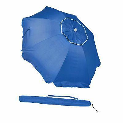 beach umbrella blue