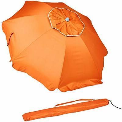 beach umbrella orange