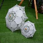 Beautiful White Lace Children Kids Flower Girls Parasol Wedd