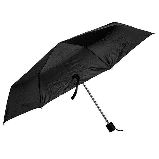 Black Umbrella, inches Rain Snow Mini Folding Women