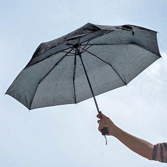 black umbrella 42 inches rain snow sun