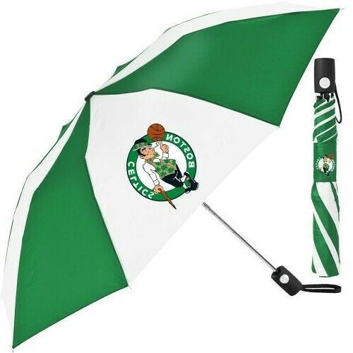 boston celtics 42 auto folding umbrella new