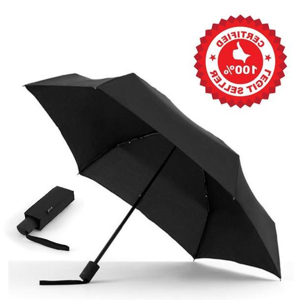 brookstone flatwear by shedrain travel umbrella 1566