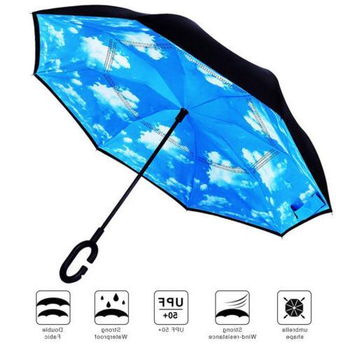 C-Handle Layer Umbrella UV Folding