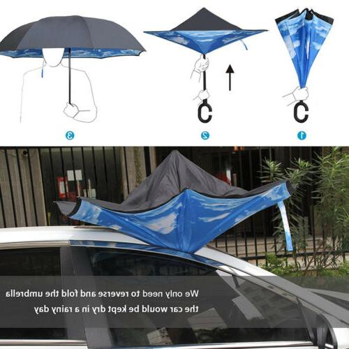 Double Inverted w/ C-Shaped UV Windproof Parasols