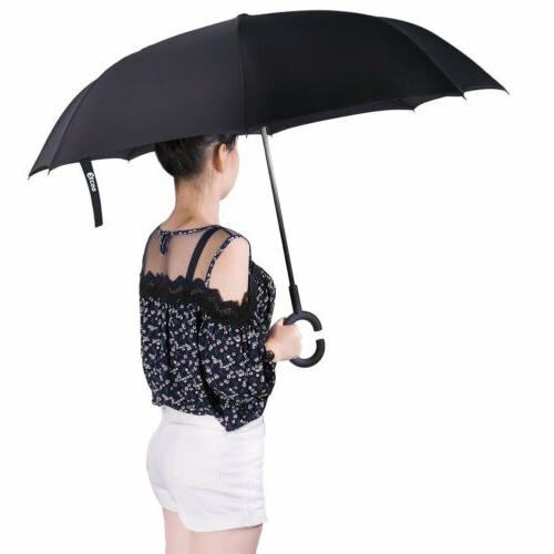 C-Handle Folding Umbrella Double Layer Down US