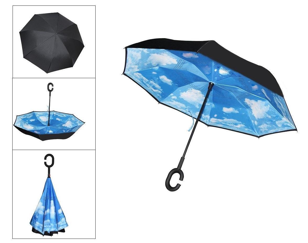 C-Handle Reverse Layer Inverted SUN/RAIN Windproof