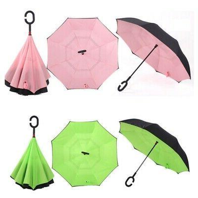 C-Hook Hands Reverse-Design Double Umbrella