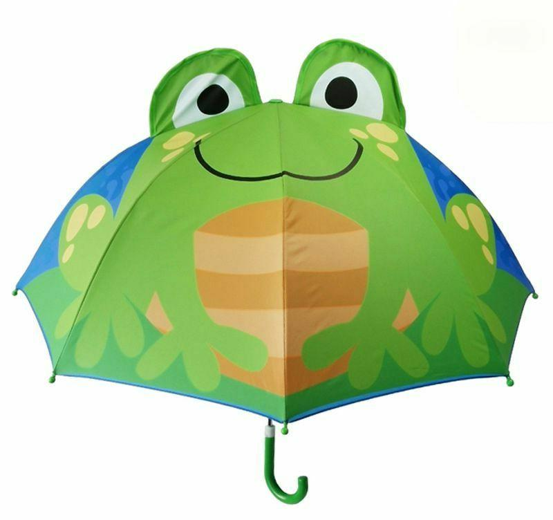 Cartoon Umbrella Long 3D For Boys Girls