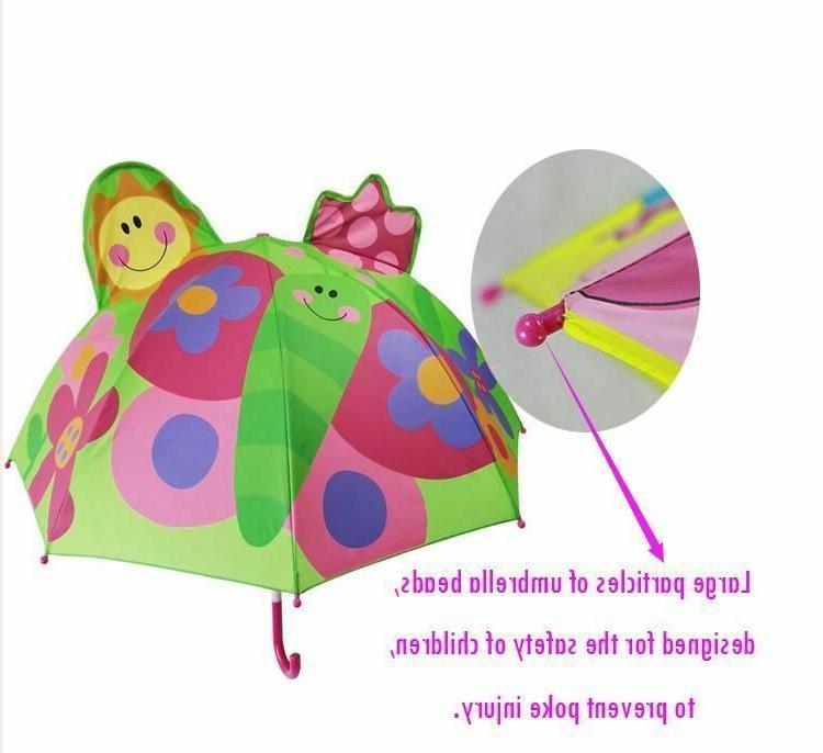 Cartoon Children Umbrella Animation Long Handled Umbrellas