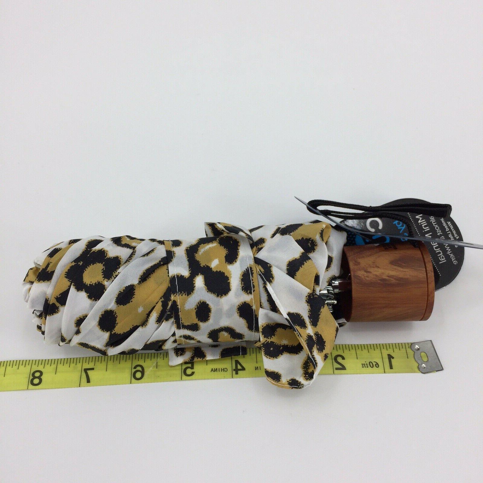 Cirra By Print Mini Umbrella Wood Handle