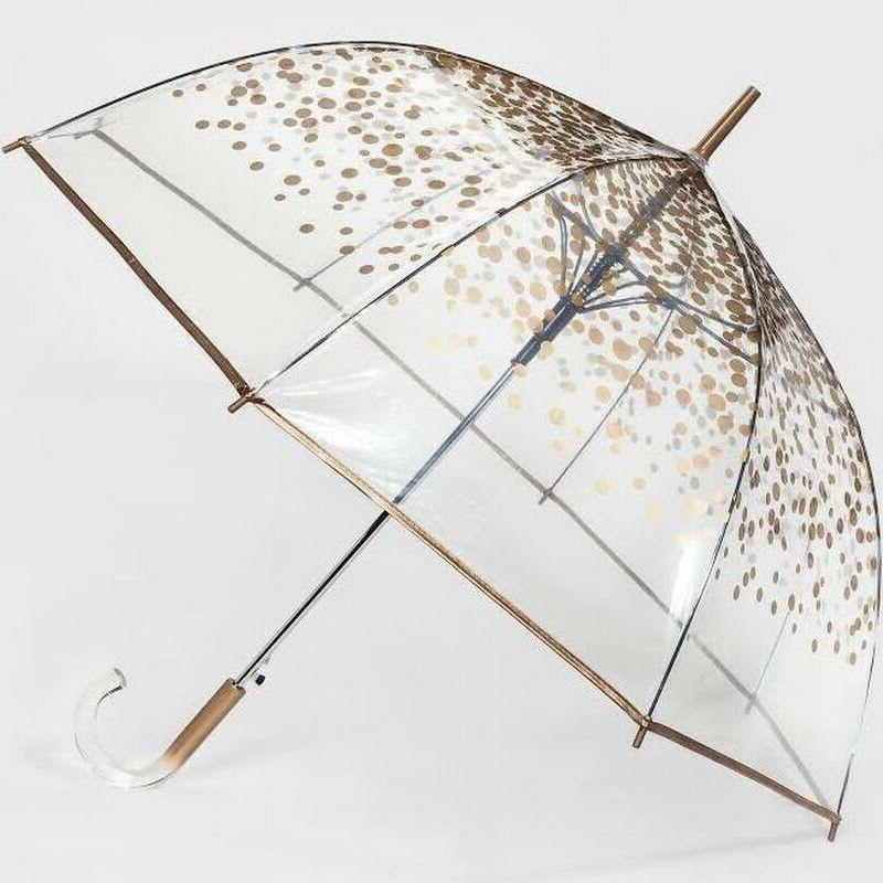 cirra by shedrain bubble umbrella clear gold
