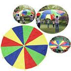 Colorful Kids Rainbow Umbrella Parachute Toy Outdoor Sports