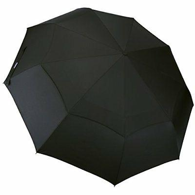 G4Free Compact Folding Golf Umbrella Windproof 48 Inch 9 Rib