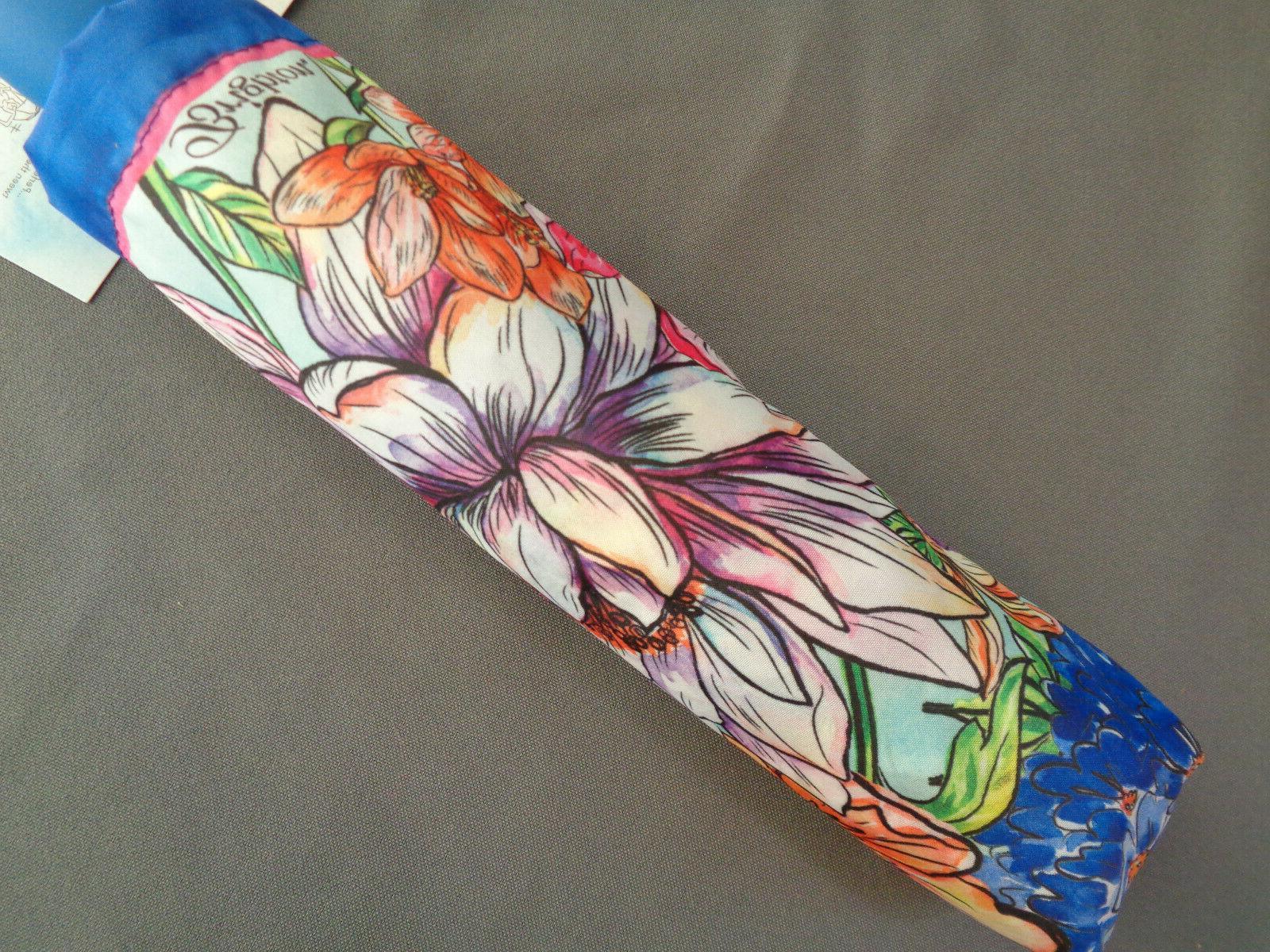compact folding umbrella enchanted garden floral c