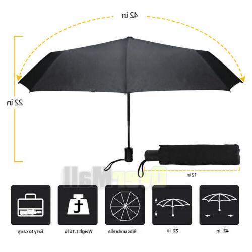 Mini Travel Automatic Umbrella Rain Windproof Auto Open Clos