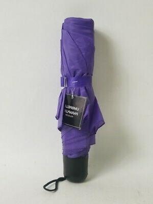 compact waterproof polyester umbrella purple