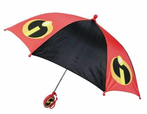 Disney Incredibles 2 Molded Handle Umbrella for Kids License