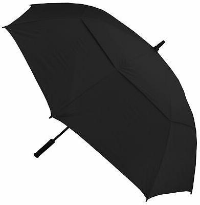 double canopy golf black umbrella
