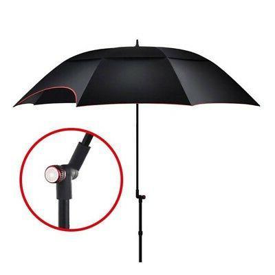 Double Beach Canopy Sun Shelter Umbrella black