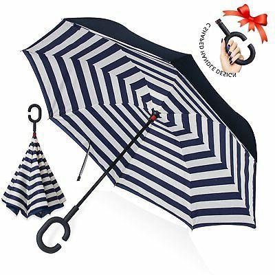 ZOMAKE Double Layer Inverted Umbrella Cars Reverse Umbrella
