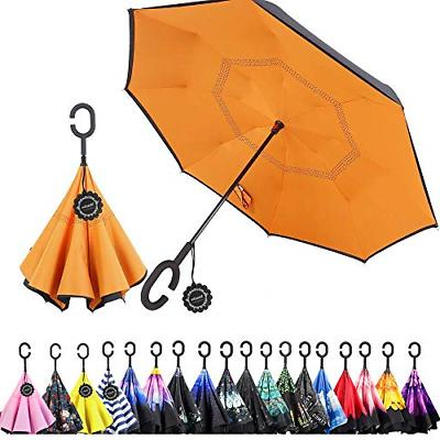 Monstleo Double Layer Inverted Umbrella Cars Reverse Umbrell