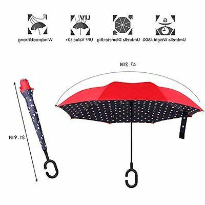 Double Reverse Folding Windproof UV Protection /w