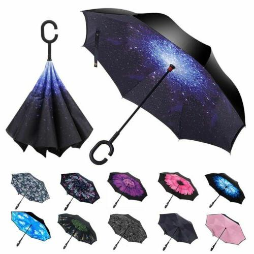 double layer inverted umbrella w c shaped
