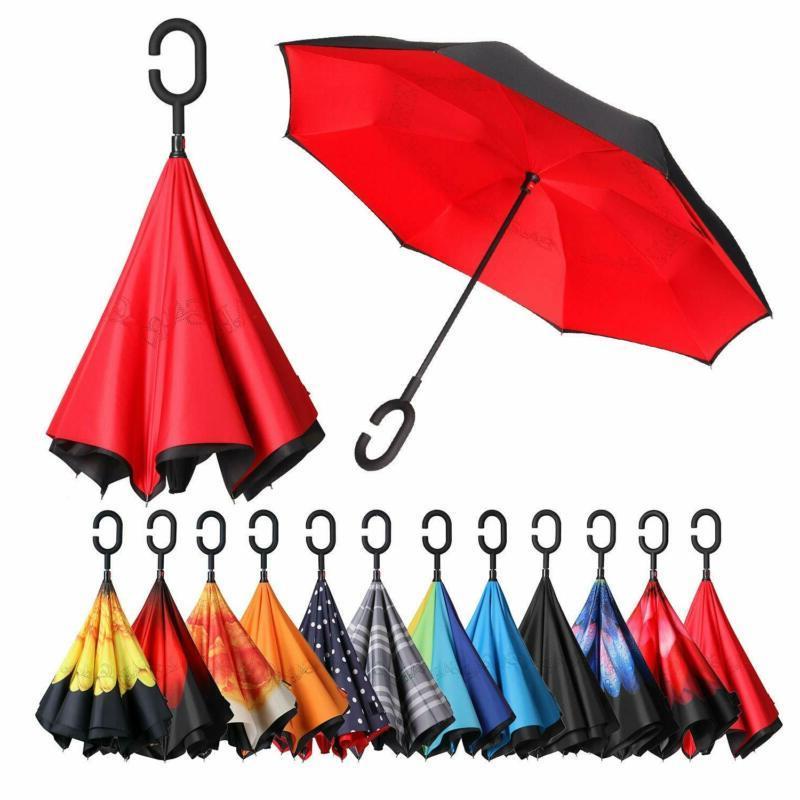 Bagail Double Layer Inverted Umbrellas Reverse Folding Umbre
