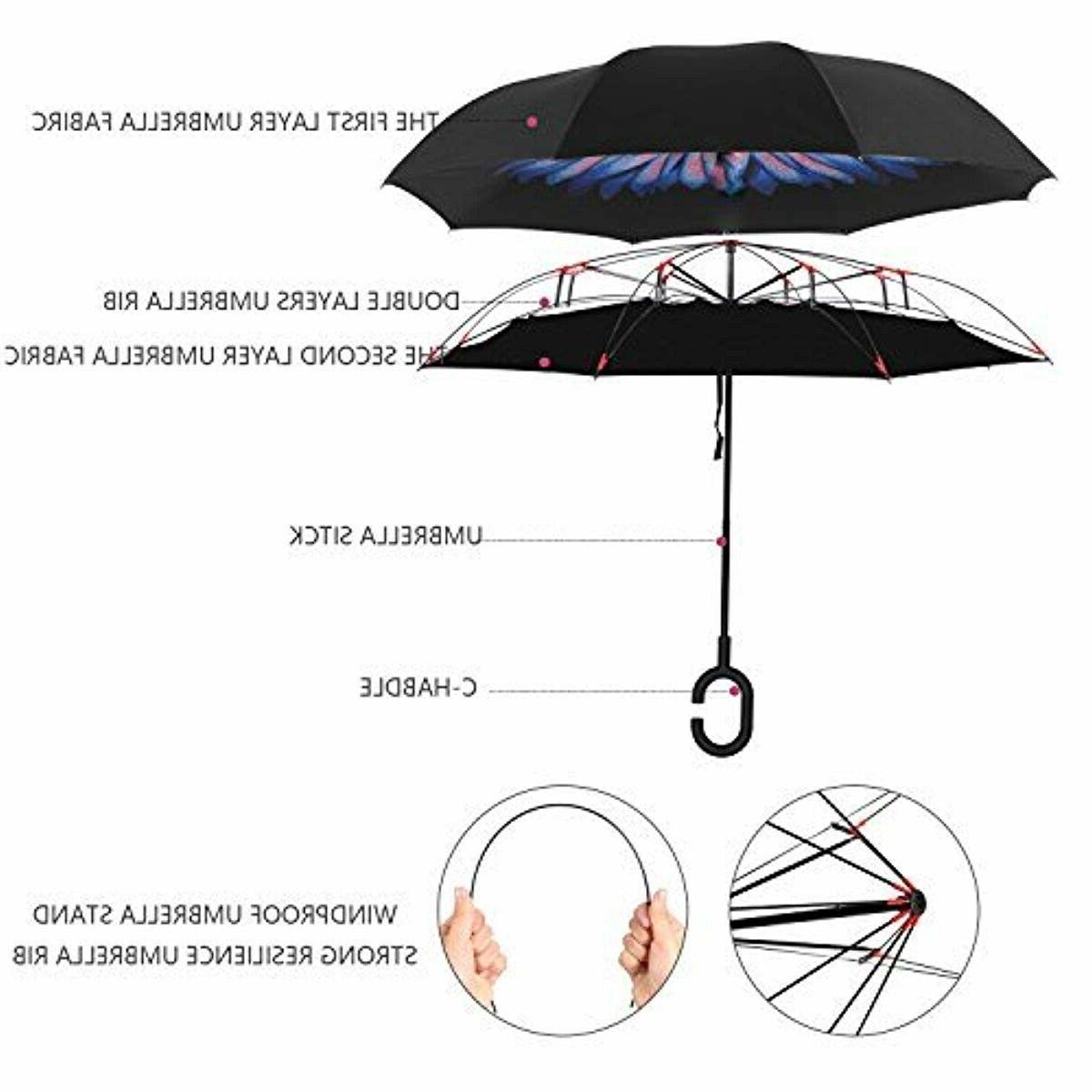 Bagail Double Inverted Umbrellas Big