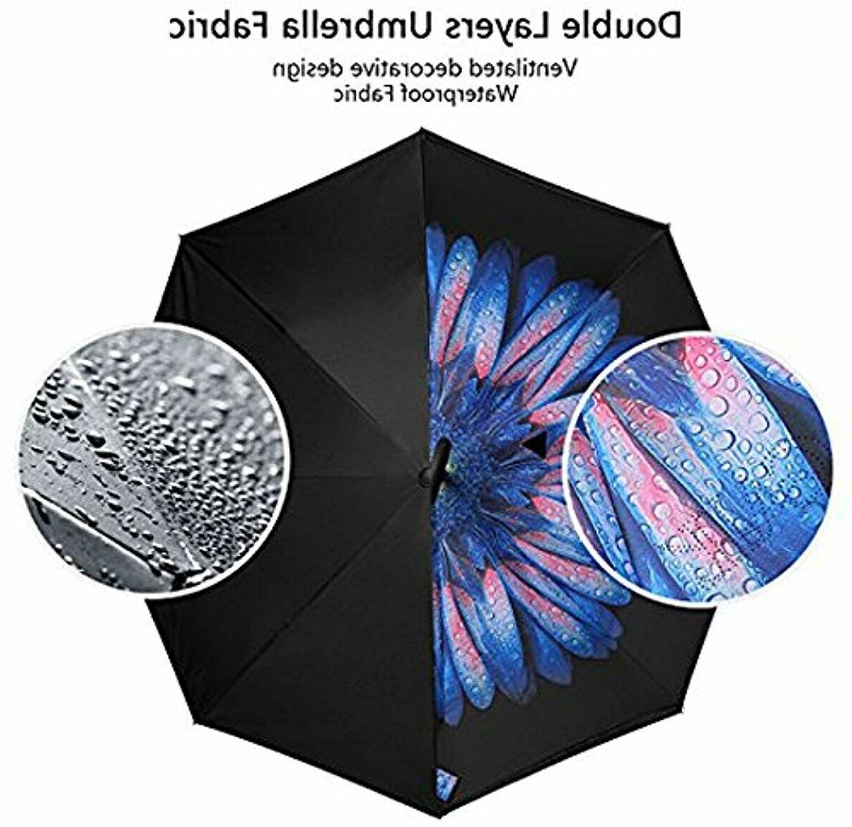 Bagail Double Umbrellas Reverse Big Handle
