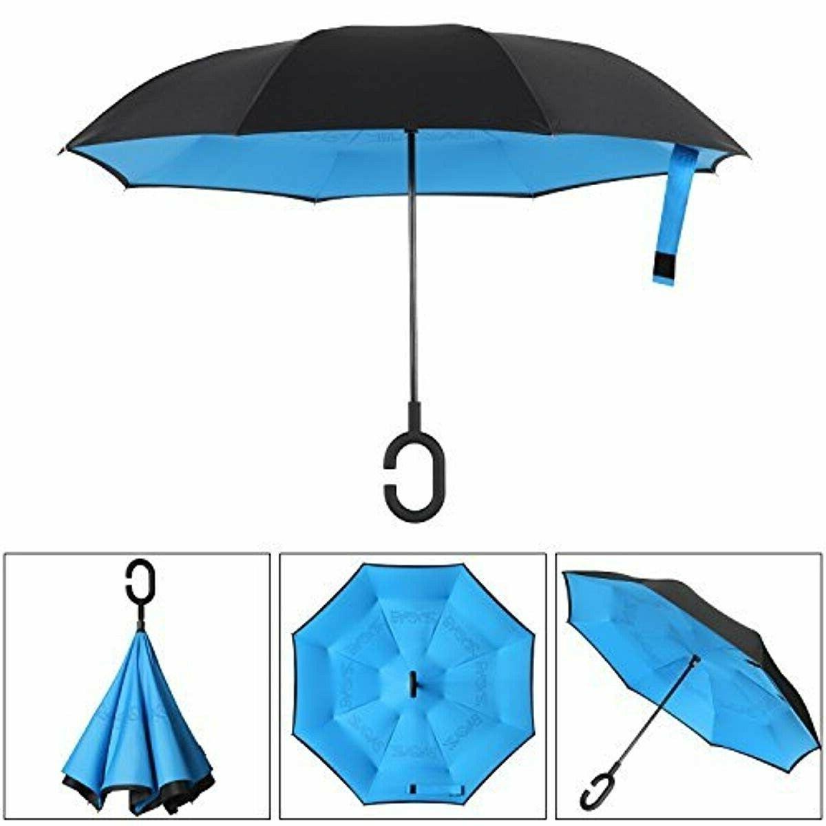 Bagail Layer Umbrellas Reverse Folding Big Car