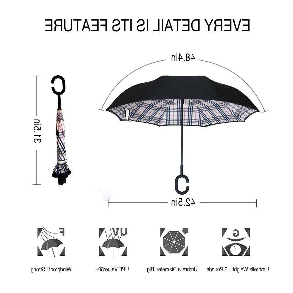 Double Layer Windproof with UV Protection C-Shaped
