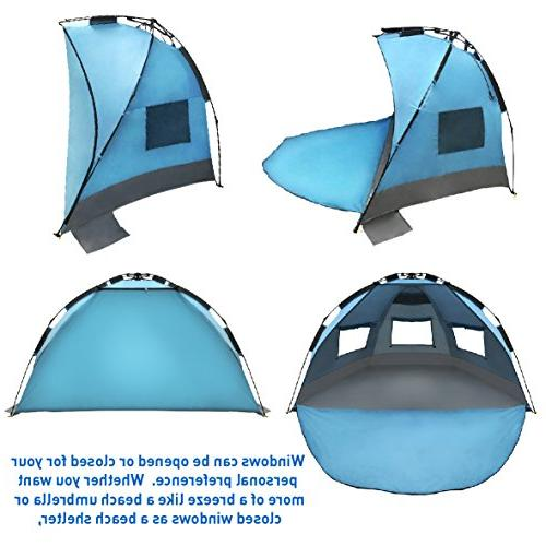 EasyGO Instant Umbrella Sun Sport Shelter, Blue
