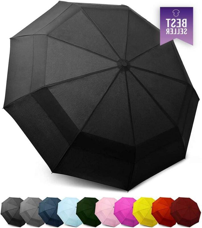 EEZ-Y Windproof Travel Umbrella - Compact Double Vented Fold