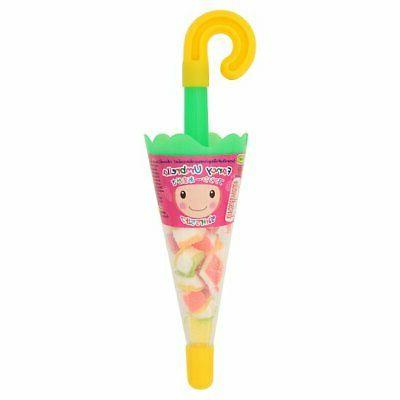 fancy umbrella fruity flavoured gelatine jelly