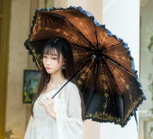 fantasy starry sky lolita sun rain umbrella