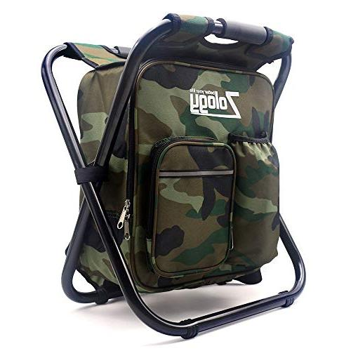 folding camping chair stool backpack