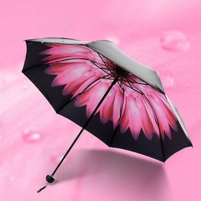 Flower Anti-UV Parasol Black Coated