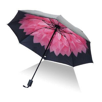 Folding Flower Rain Anti-UV Sun Parasol