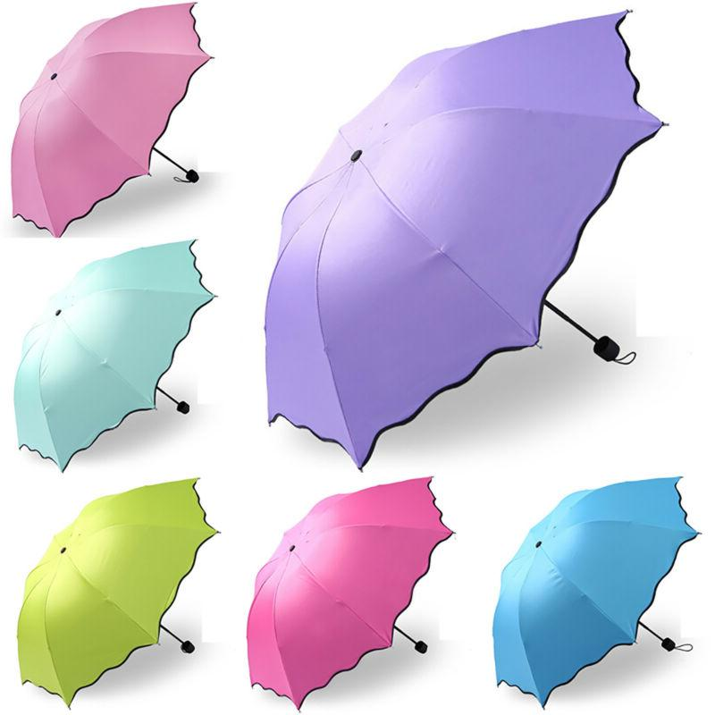 Folding Waterproof Rain Sun Compact Parasol Travel